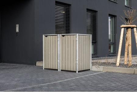 Hide Mülltonnenboxen Mülltonnenbox 240l Holz1er Box, 121x 63,4x 115,2 cm (BxTxH)