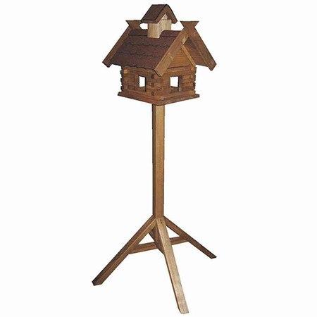 HOUSE & GARDEN Vogelfutterhaus Kranich mit Ständer, Maße: 37x39x39cm