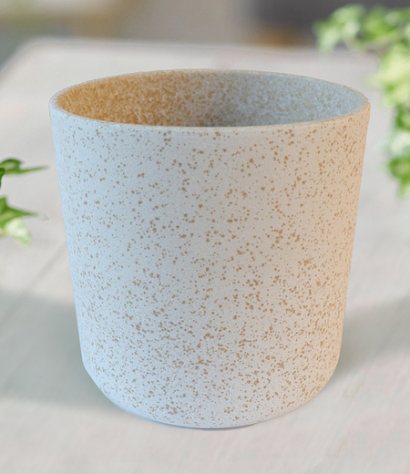 """Keramik-Übertopf ø 17 cm """"weiß"""",1 Stück"""