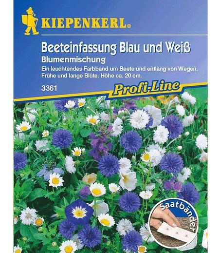 """Kiepenkerl Beeteinfassung """"Blau-Weiß"""",5 Meter"""