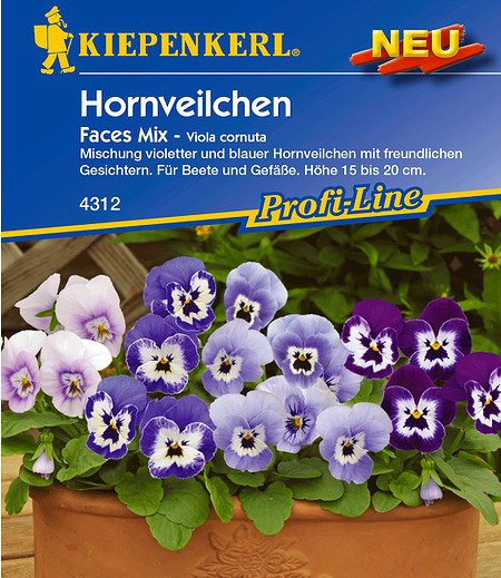 "Kiepenkerl Hornveilchen ""Faces Mix"",1 Portion"