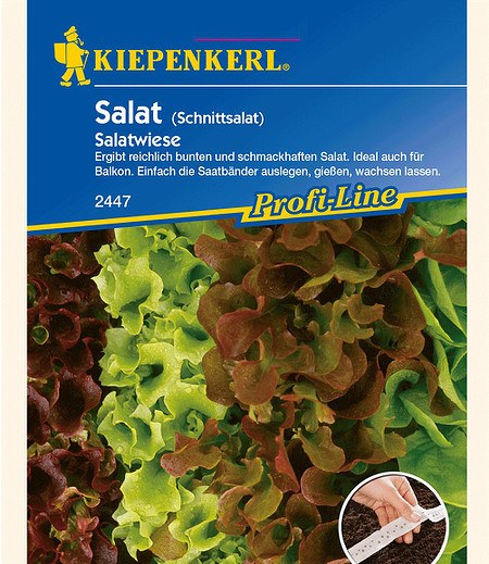"Kiepenkerl Schnittsalat ""Salatwiese"" Saatband,4 x 2,5"