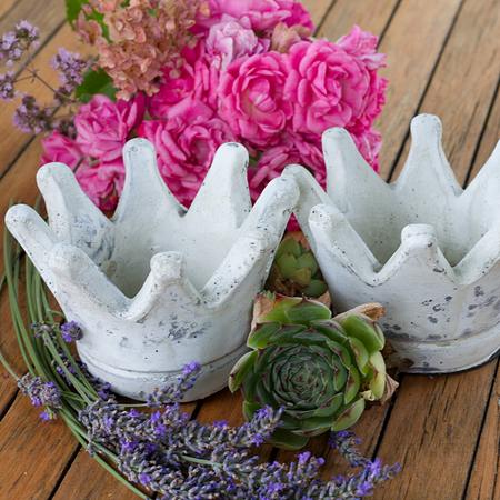 Krone Vase, klein, 2er Set