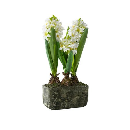 Kunstpflanze Hyazinthe Weiß