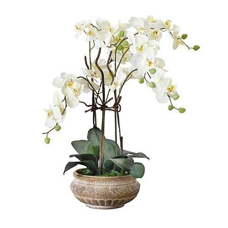 Kunstpflanze Orchideentopf