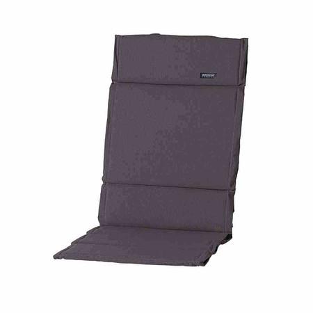 MADISON Auflage für Sessel hoch, Panama grau, dünne Ausführung, 75% Baumwolle