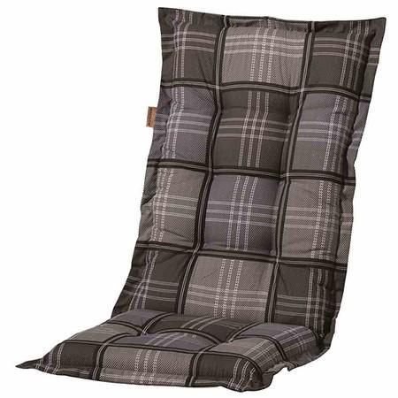 MADISON Auflage für Sessel hoch, Patchy grey, 50% Baumwolle 50% Polyester,A053