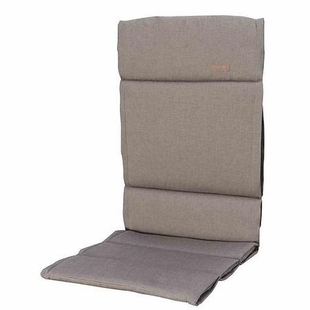 MADISON Auflage für Sessel hoch, Rib liver, dünne Ausführung, Bezug 100% Polya