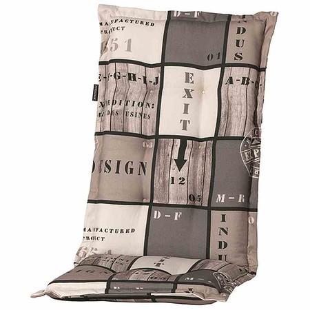 MADISON Auflage für Sessel hoch, Tom grau, 75% Baumwolle 25% Polyester
