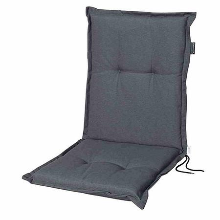 MADISON Auflage für Sessel niedrig, Panama grau, 75% Baumwolle 25% Polyester