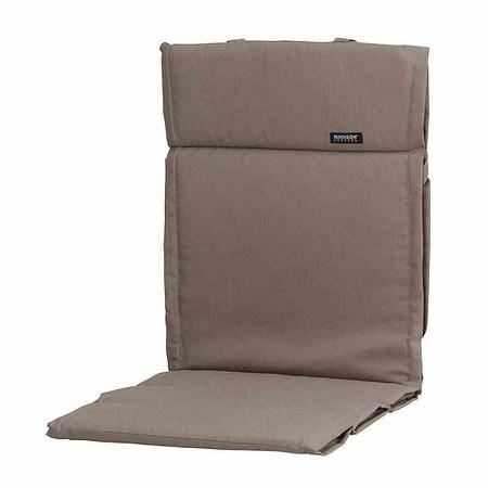 MADISON Auflage für Sessel niedrig, Panama taupe, dünne Ausführung, 75% Baumwo