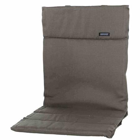 MADISON Auflage für Sessel niedrig, Rib liver, dünne Ausführung, Bezug 100% Po