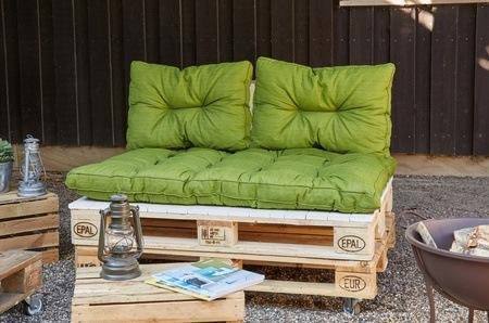 MADISON Palettenkissen Grün, 3-teilig