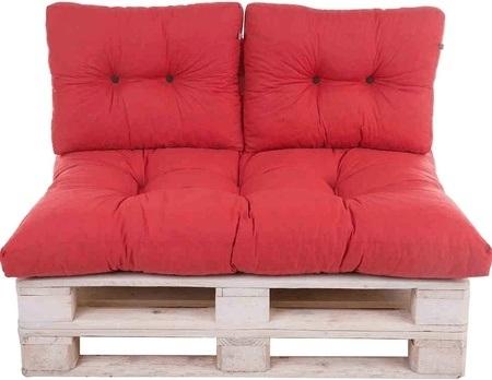 MADISON Palettenkissen Rot, 3-teilig