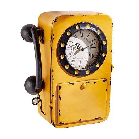 miaVILLA Wanduhr mit Schlüsselschrank Telefon