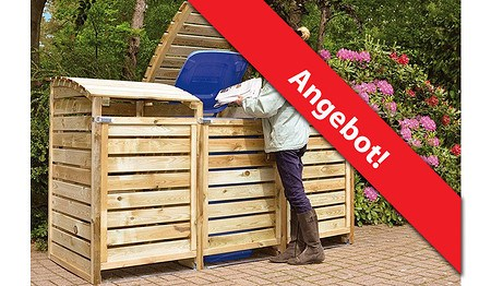 m lltonnenboxen aus holz 3er f r m lltonnen bis 240 liter g nstig online kaufen mein sch ner. Black Bedroom Furniture Sets. Home Design Ideas