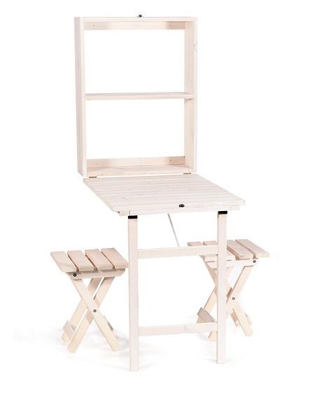 mygardenlust balkon tisch set klappbar mit 2x hocker wei g nstig online kaufen mein sch ner. Black Bedroom Furniture Sets. Home Design Ideas