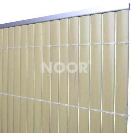 NOOR Aluminium Abdeckprofil für PVC Sichtschutz 2m