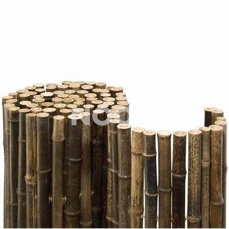 NOOR Bambusmatte Black Bambus Sichtschutz Zaun Ø 24 mm
