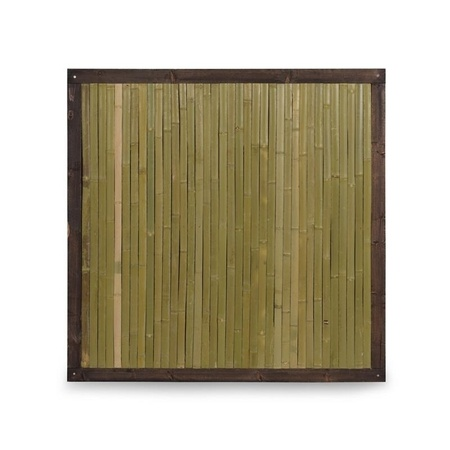 NOOR Bambuszaun Bali mit Holzrahmen Bambus Zaun