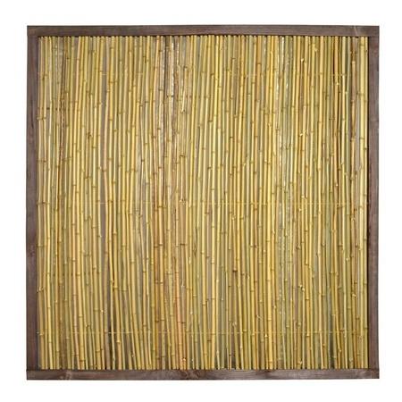 NOOR Bambuszaun Bangkok mit Holzrahmen Bambus Zaun