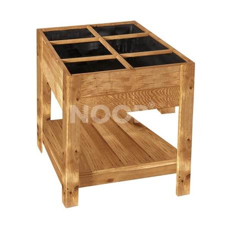 NOOR Hochbeet Nizza 60x80x80cm Frühbeet Tisch Holz