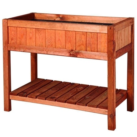 NOOR Hochbeet Provence 76x80x40cm Frühbeet Tisch Holz