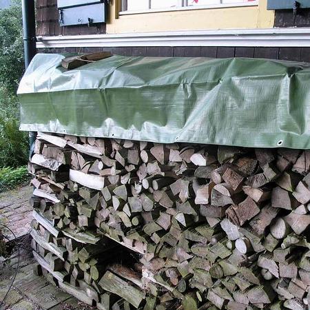 NOOR Holz-Abdeckplane PVC 380 g/m² 1,5 x 12 m