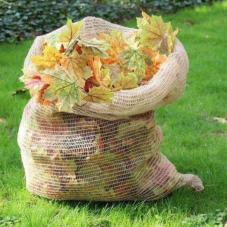 NOOR Laubsäcke Jute 70 x 100 cm 3 Stück kompostierbar