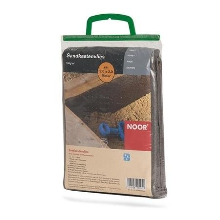 NOOR Sandkastenvlies 2x2 m grau Vlies für Sandkasten