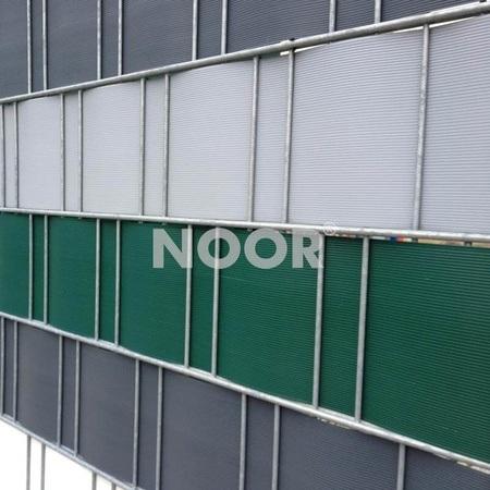 NOOR Sichtschutzstreifen PVC 0,19x2,55m Zaunblende Hart