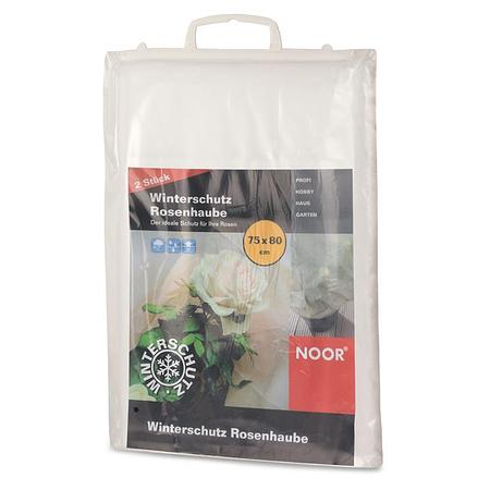 NOOR Winterschutz Rosenhaube 2er Pack 75 x 80 cm weiß