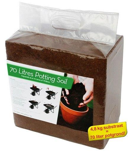 Pflanz-Erde aus Kokos-Faser für 70 Liter Erde,1 Pack.