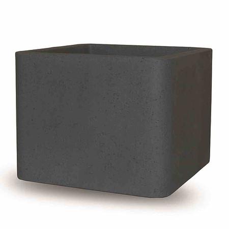PP-PLASTIC Cube, 30 cm schwarz - granit