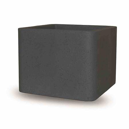 PP-PLASTIC Cube, 40 cm schwarz - granit