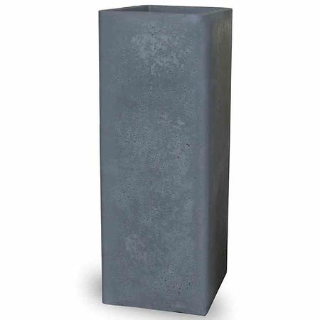 PP-PLASTIC Cube high zement-grau, betonlook, 265x265x725mm