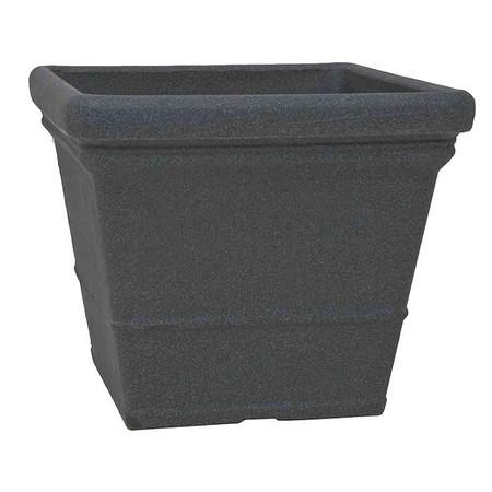 PP-PLASTIC Gefäß Lisa, schwarz granit, 50x50cm