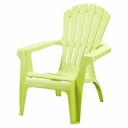 PROGARDEN Deckchair Dolomiti, grün, Vollkunststoff