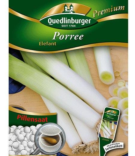 """Quedlinburger Porree """"Elefant"""" Pillensaat,1 Portion"""