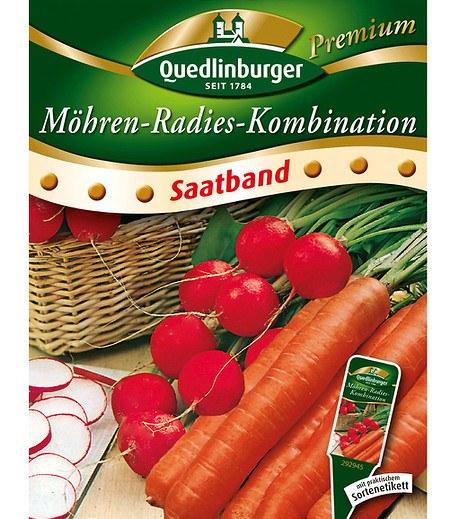 """Quedlinburger Radies & Möhren """"Saatband"""",6 Meter"""