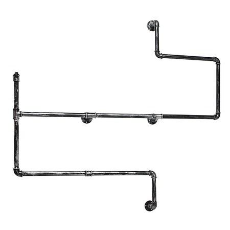 Regal Rohr Grau 120 cm