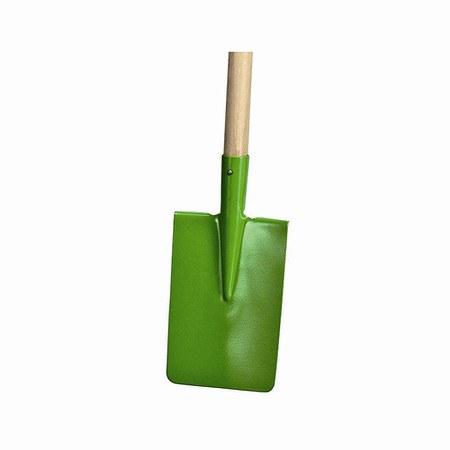 ROMULUS Kinderspaten farblich sortiert12cm breit, Holzstiel 75cm
