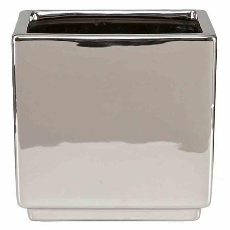SCHEURICH Pflanzgefäß Mirror Silver, Übertopf 13 cm