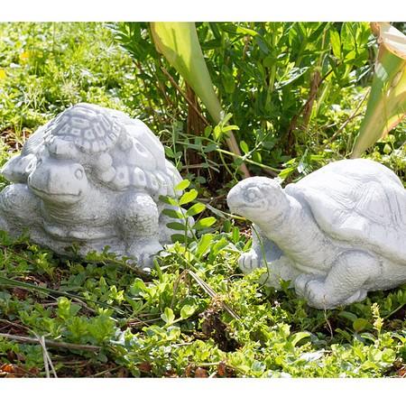 Schildkröten 2er Set, Dekofiguren