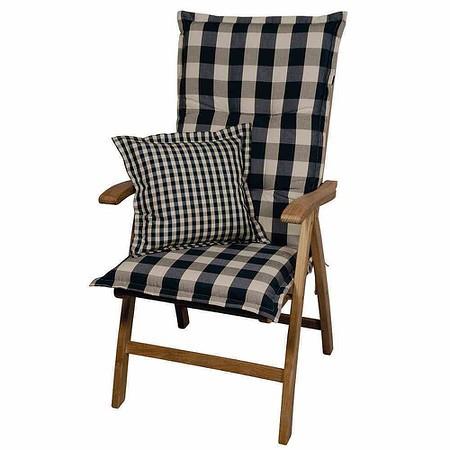 SCHWIENHORST Auflage Kent für Sessel hoch 120x50x9 cm, grün, 100% Polyacryl
