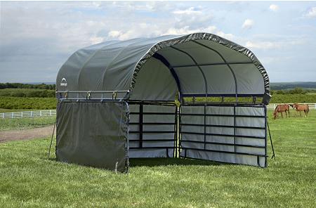 ShelterLogic Weidezelt Überdachung Seitenverkleidung, 370x 370x 170 cm (BxTxH)
