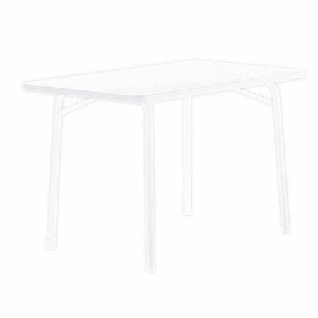 SIEGER Gartentisch eckig, 115x70 cm, weiß, Stahlrohrgestell, Mecalit-Pro-Pla