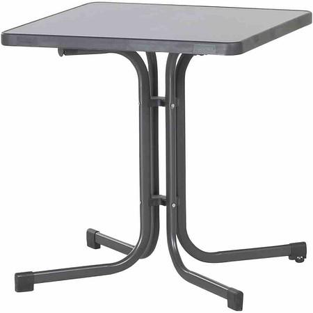 SIEGER Gartentisch, eisengrau, Stahlrohrgestell, Mecalit-Pro-Platte