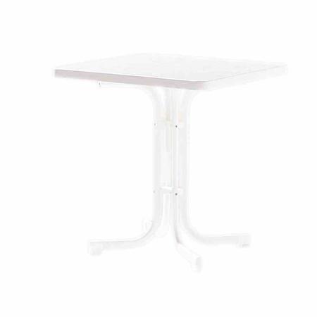 SIEGER Gartentisch, weiß, Stahlrohrgestell, Mecalit-Pro-Platte