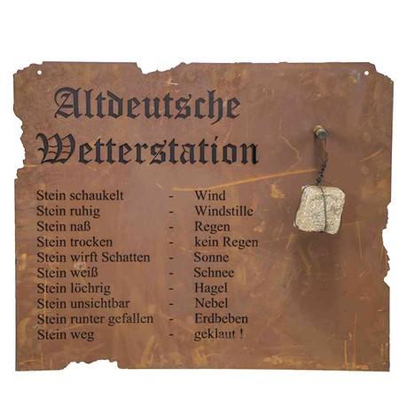 wetterstation garten, siena garden altdeutsche wetterstation zumhängen metall mit edelrost, Design ideen
